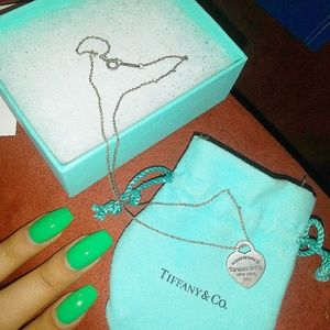 💎 Tiffany & co Classic silver heart necklace 💙